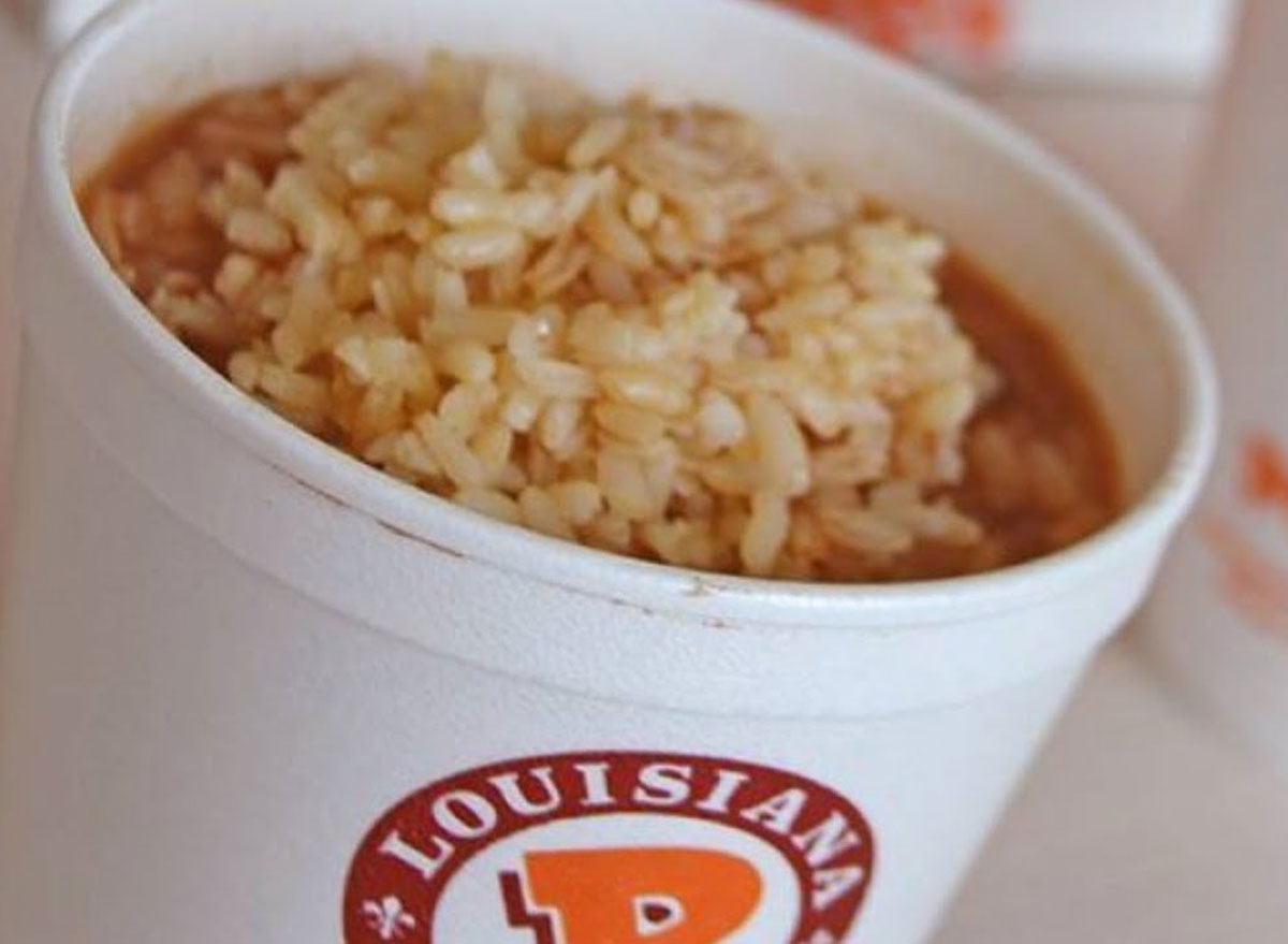 popeyes rice and beans