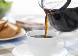 pour black coffee