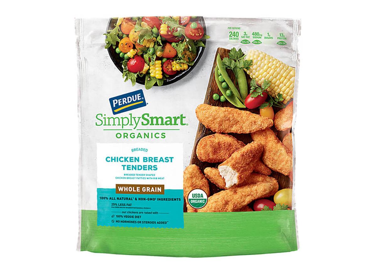 bag of perdue frozen whole grain chicken tenders