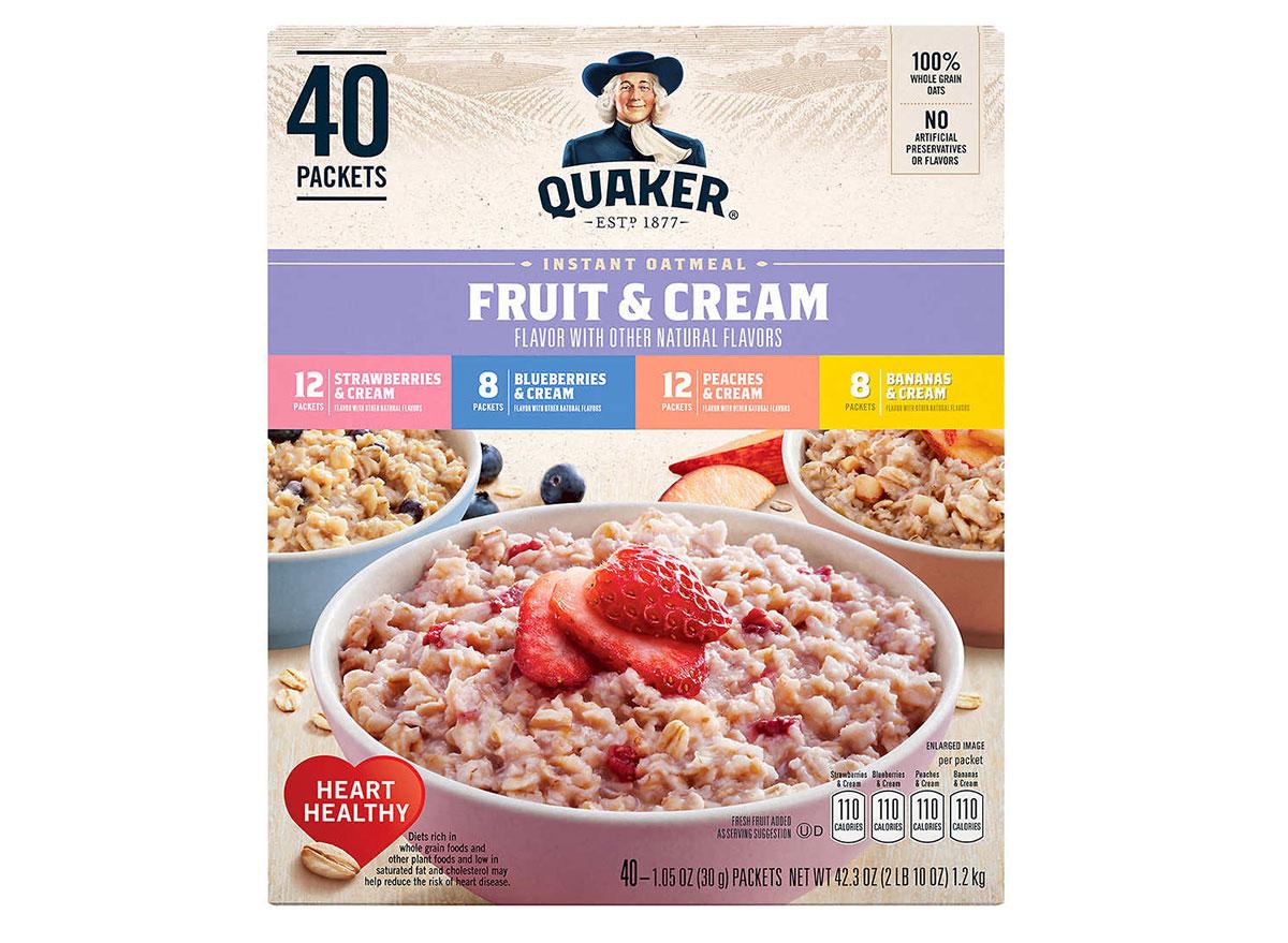 quaker fruit cream instant oats