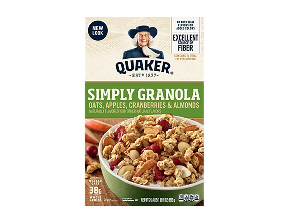 quaker simply granola oats apple cranberries almonds