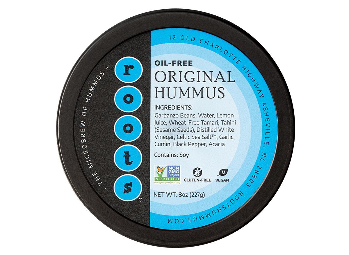 roots oil-free hummus tub