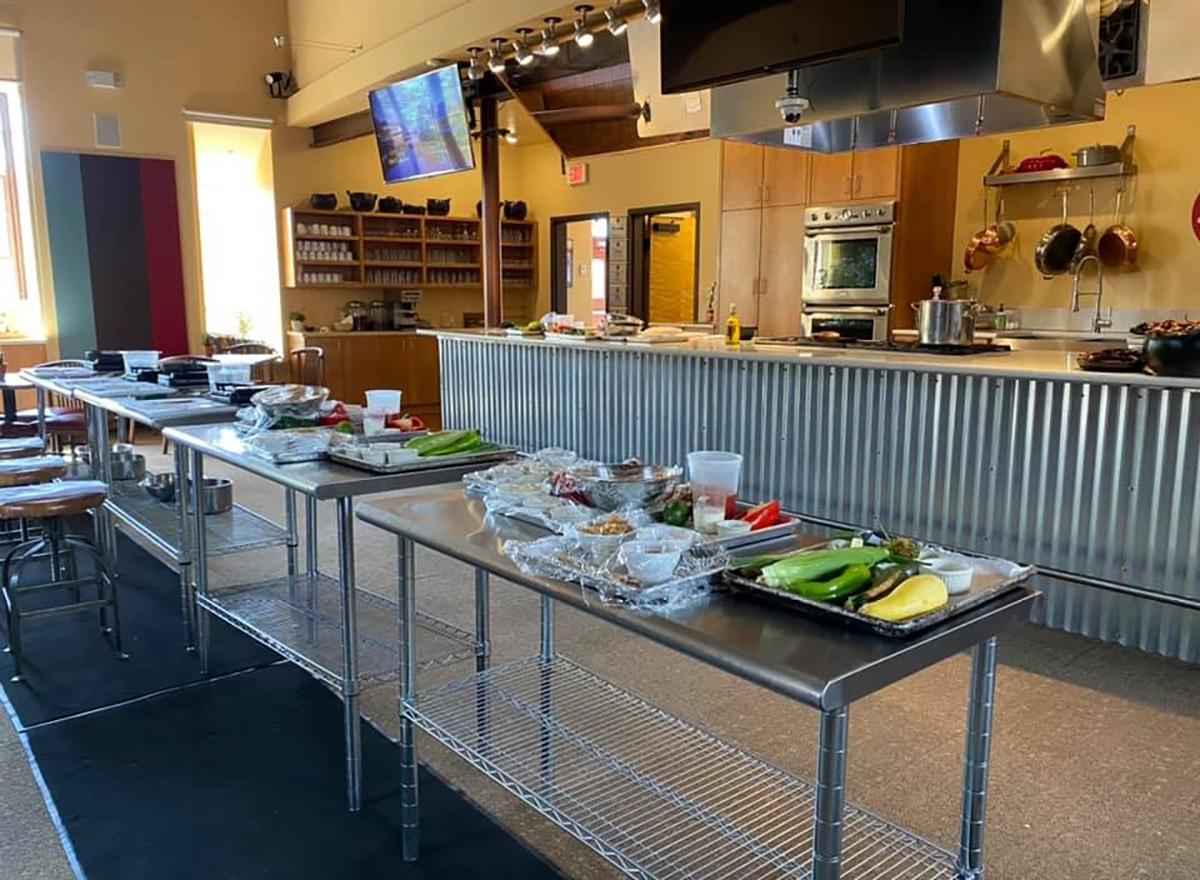 class setup at santa fe school of cooking