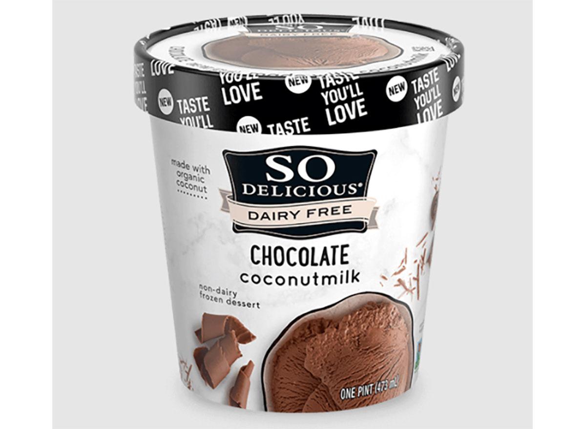 pint of so delicious chocolate coconutmilk frozen dessert