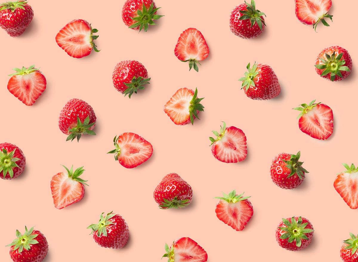 strawberries, sliced