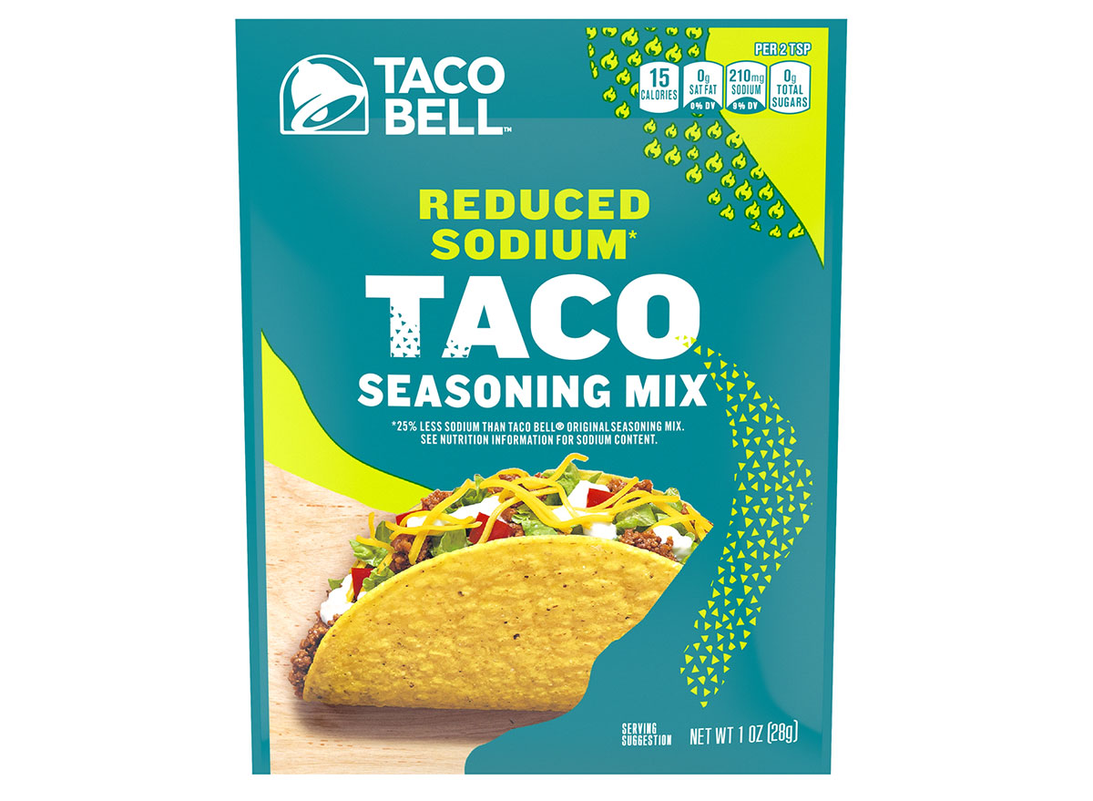 taco bell reduced sodium seasoning