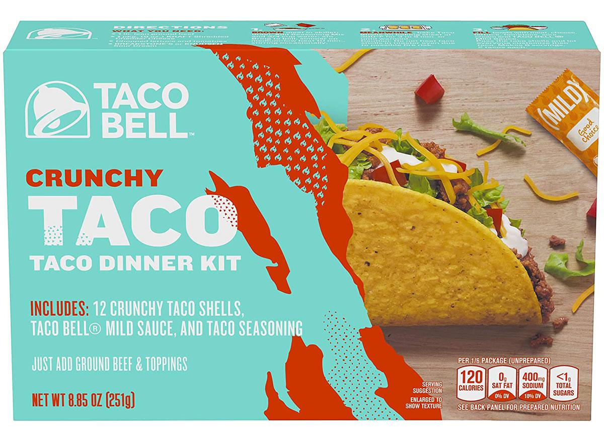 taco bell taco dinner kit