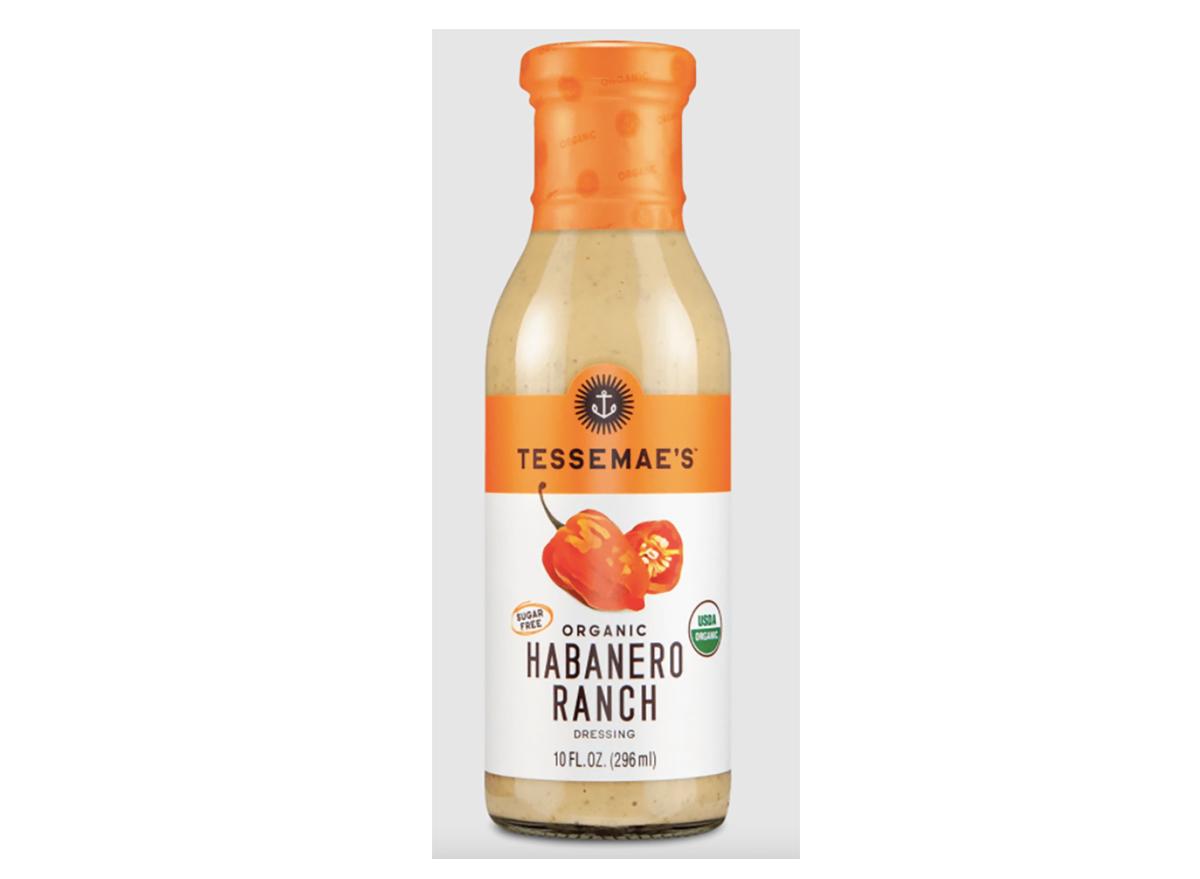 bottle of tessemaes habanero ranch