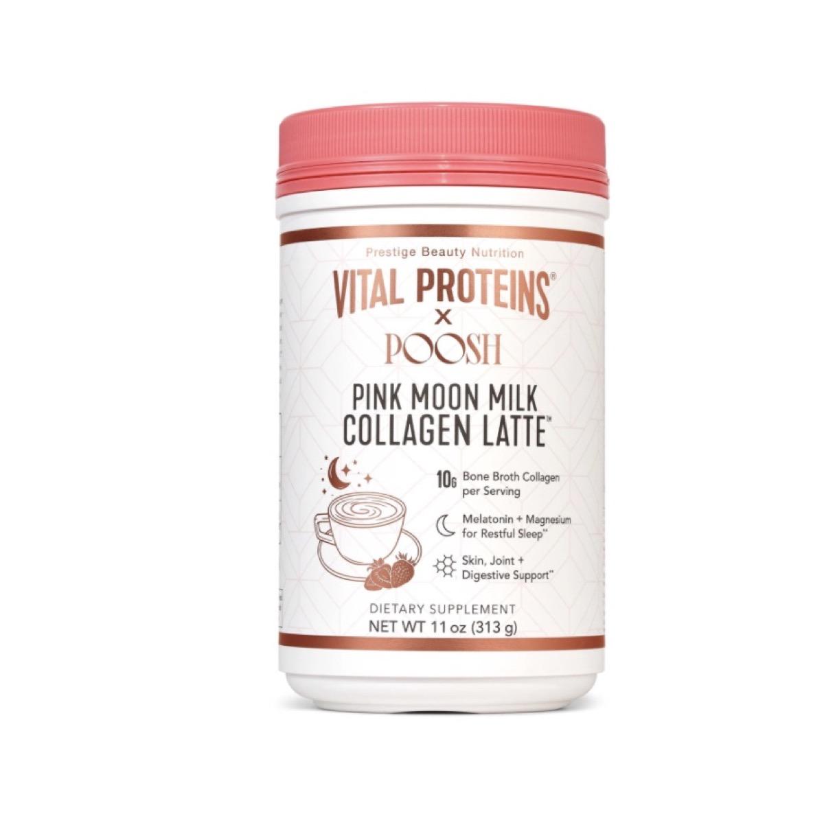 vital proteins pink moon milk collagen latte