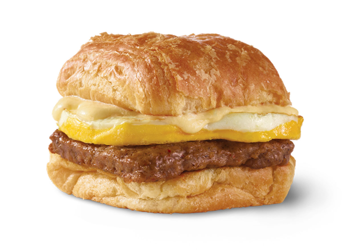 wendys sausage egg cheese croissant