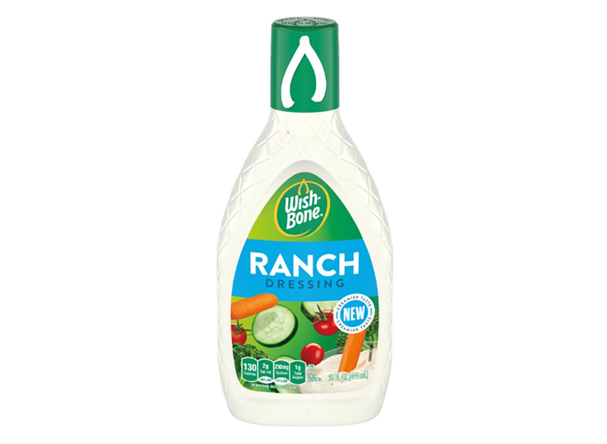 bottle of wishbone ranch dressing