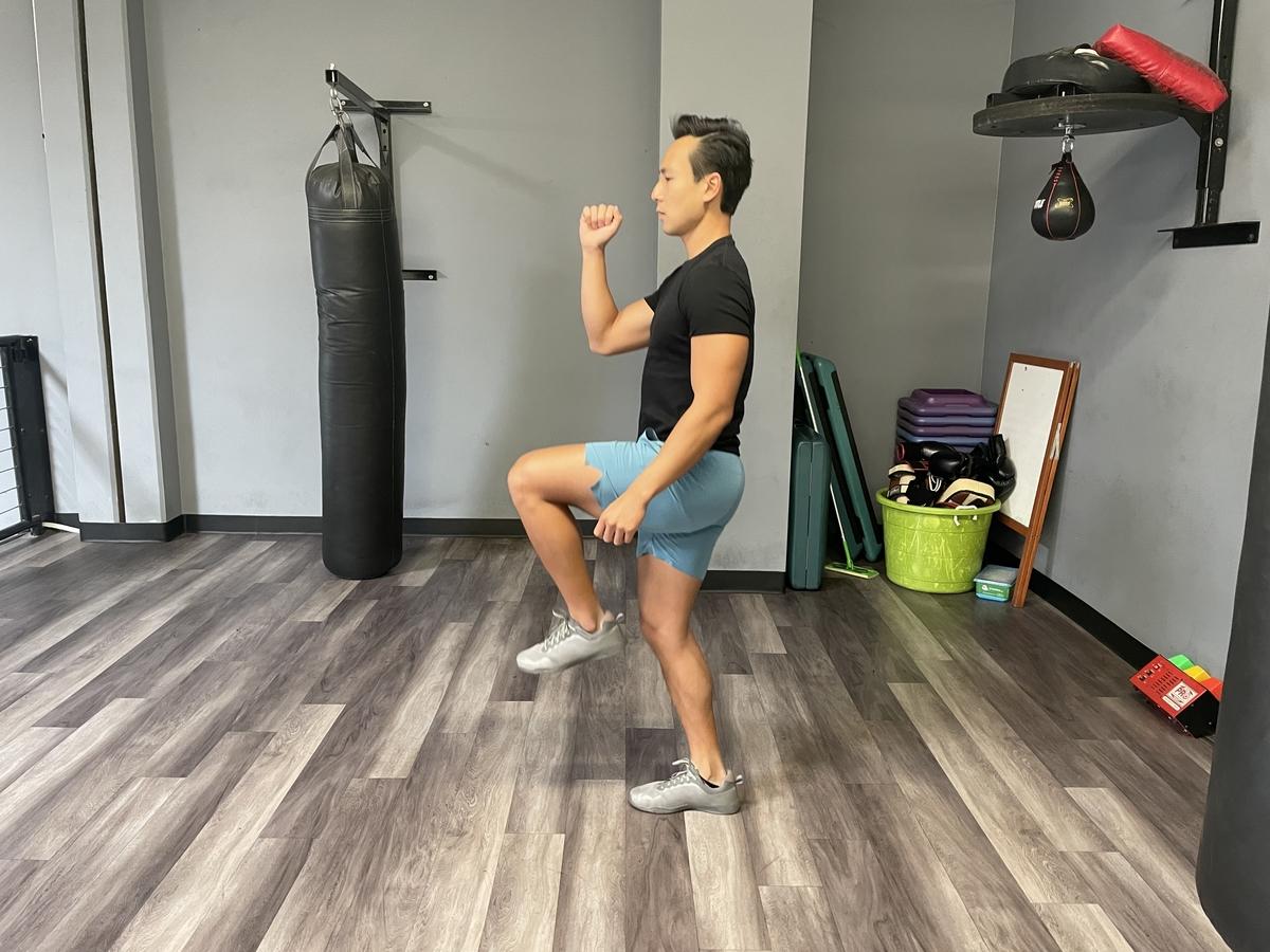 Tim Liu doing a-skips