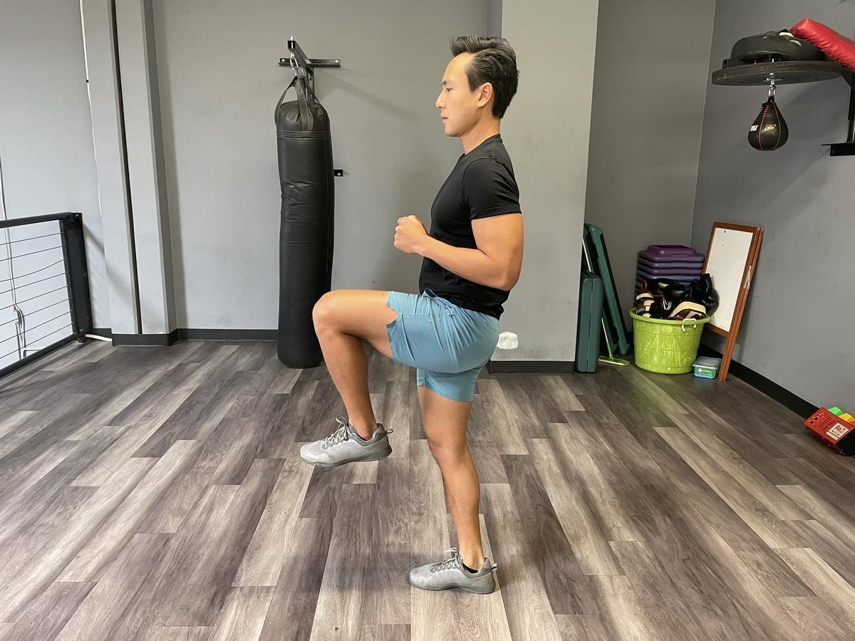 high knees done by tim liu