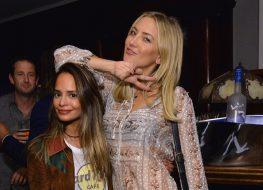 Kate Hudson in Yellow Bikini Reunites With BFF Stylist