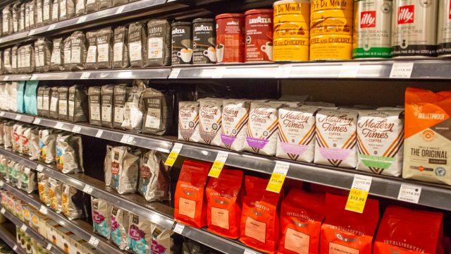 coffee, coffee aisle