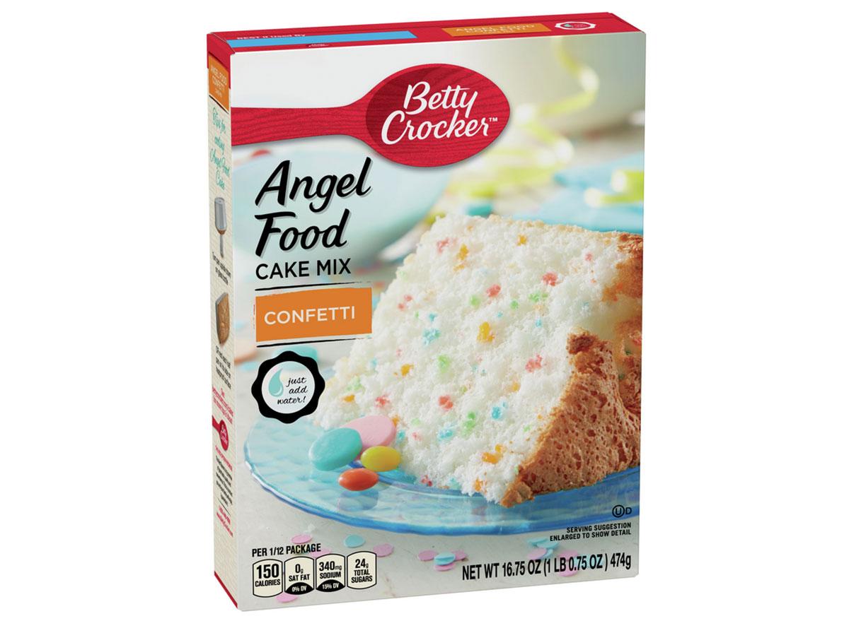 angel food cake confetti