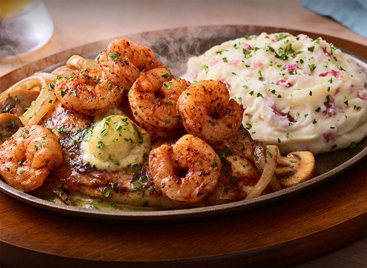 applebees bourbon street chicken shrimp