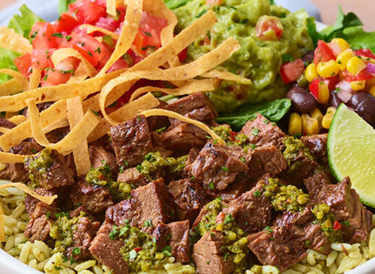 applebees southwest steak bowl