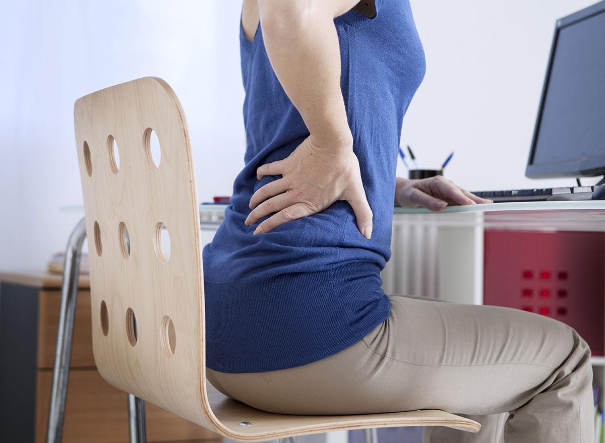 back pain sitting