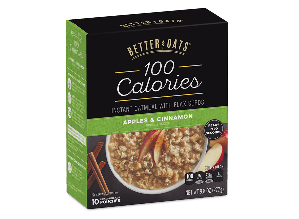 better oats apples cinnamon instant oatmeal