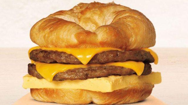burger king double croissantwich