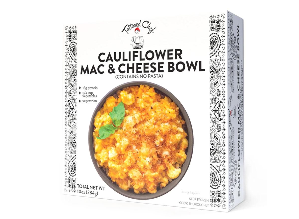 cauliflower mac and cheese bowl