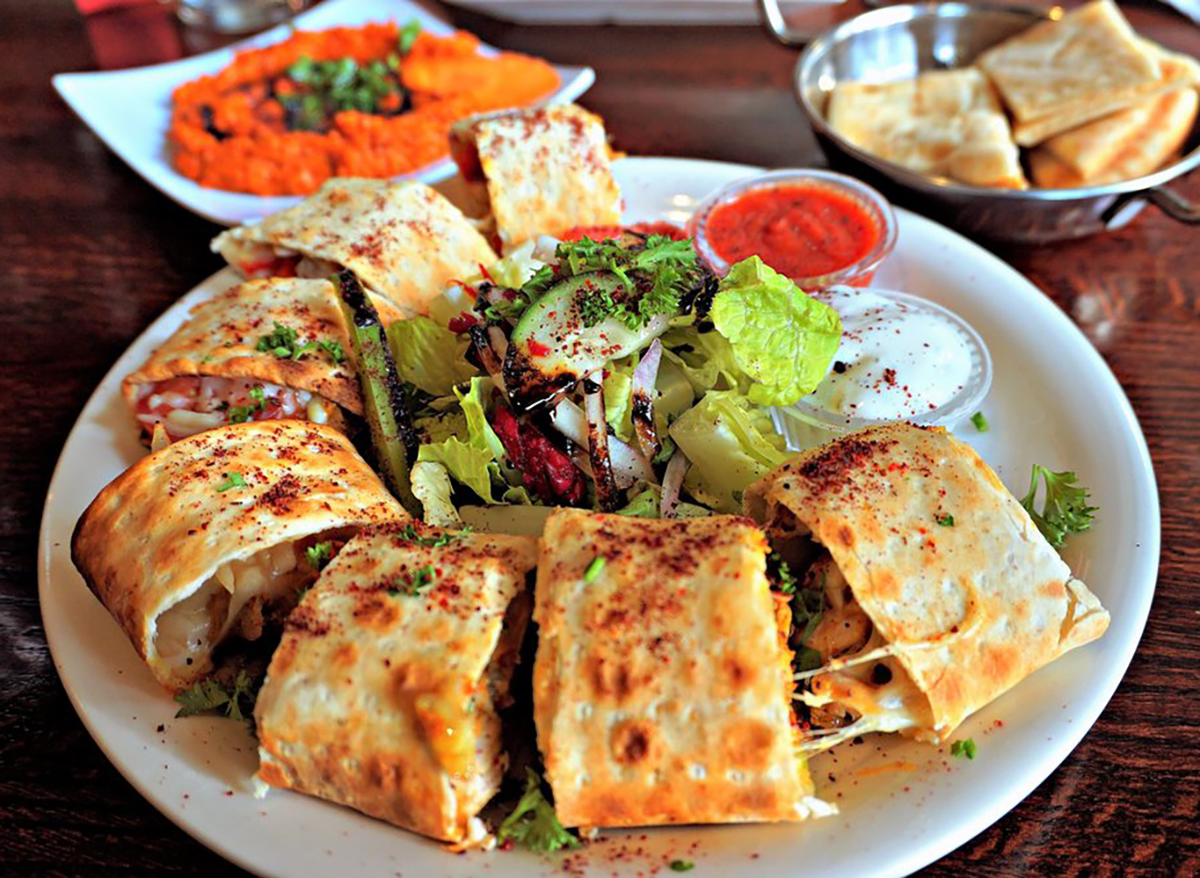 chicken kebab pieces on plate