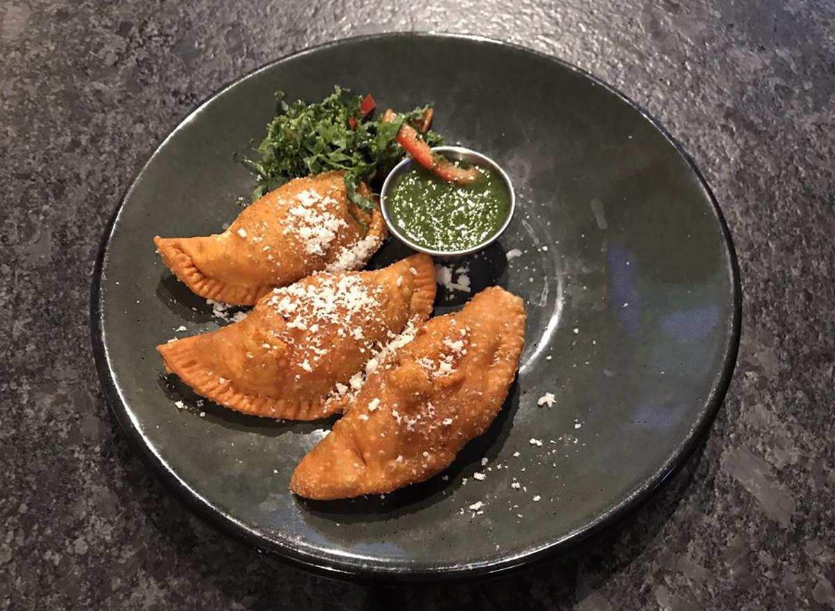 plated chicken empanadas