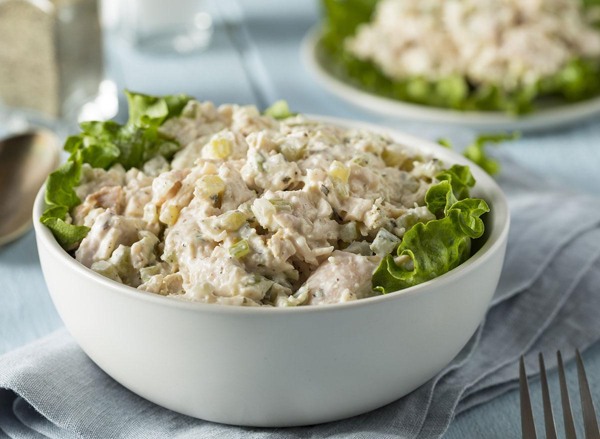 chicken salad lettuce