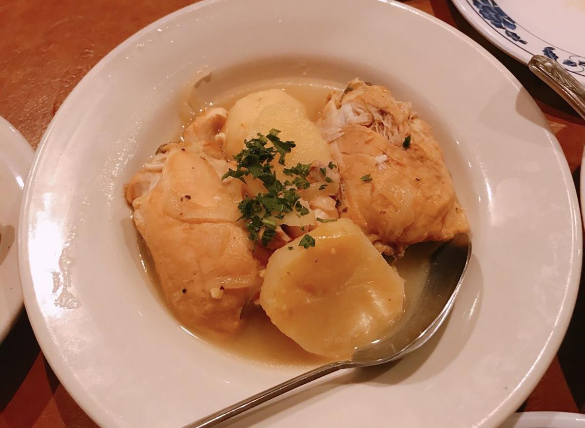 plate of chicken tawa