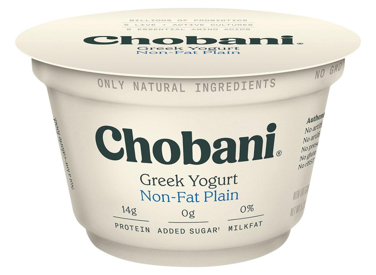chobani non-fat plain