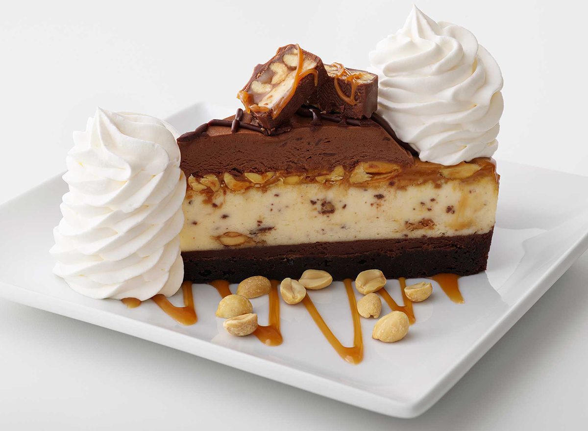 Cheesecake Factory Chocolate Caramelicious Cheesecake Made With Snickers