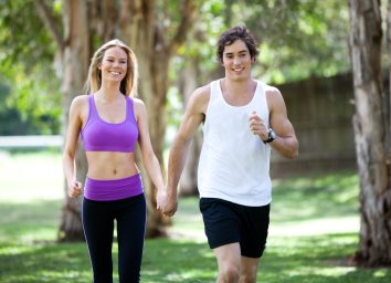 couple walking together for exercise