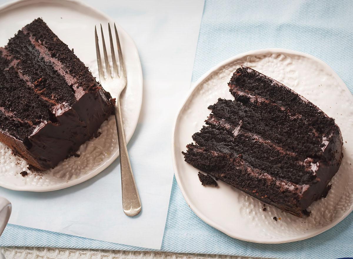 dark chocolate layer cake.
