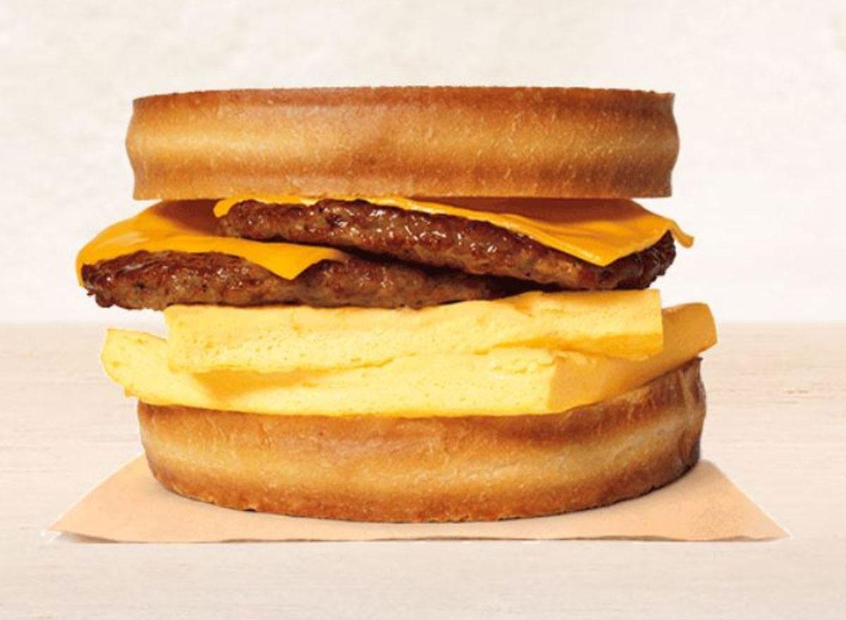 double sausage sourdough breakfast king