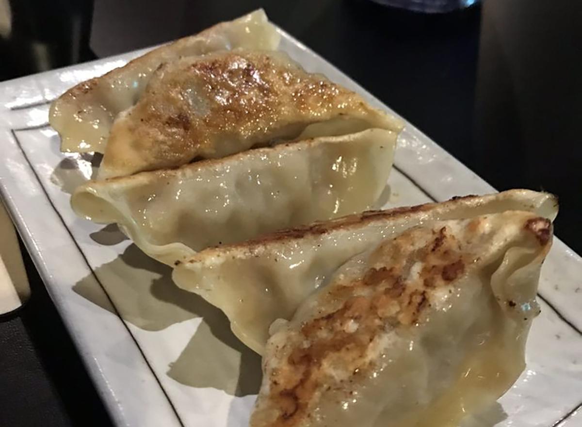 fried gyoza platter
