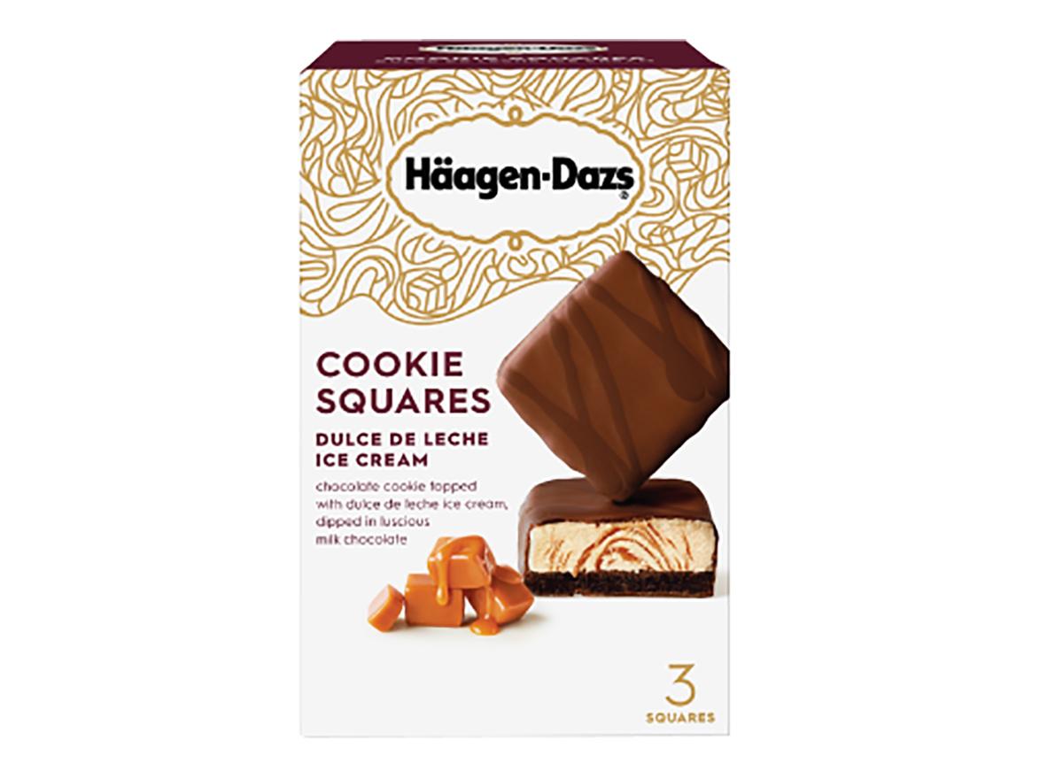 haagen dazs dulce de leche cookie squares