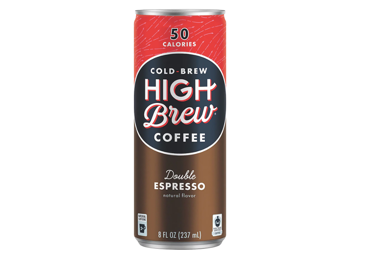 can of high brew double espresso cold coffee