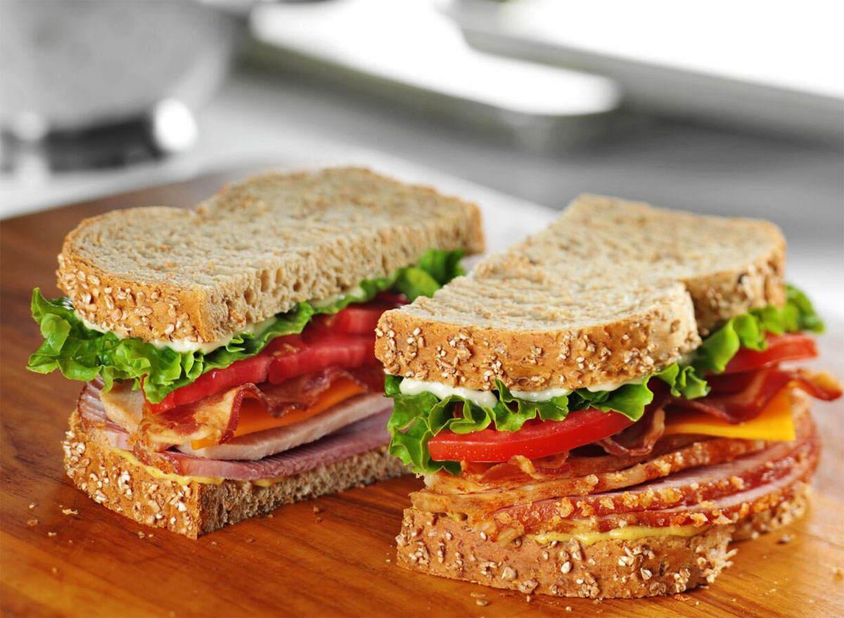 honey baked ham taverns club sandwich