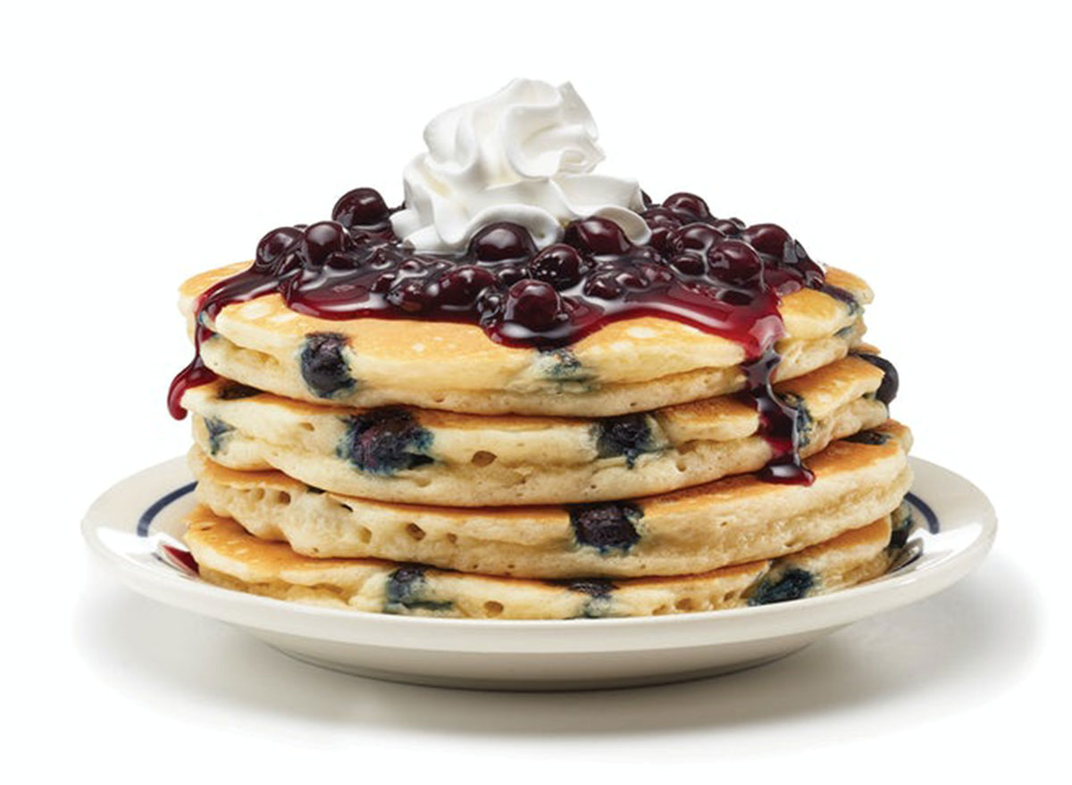 ihop double blueberry pancakes