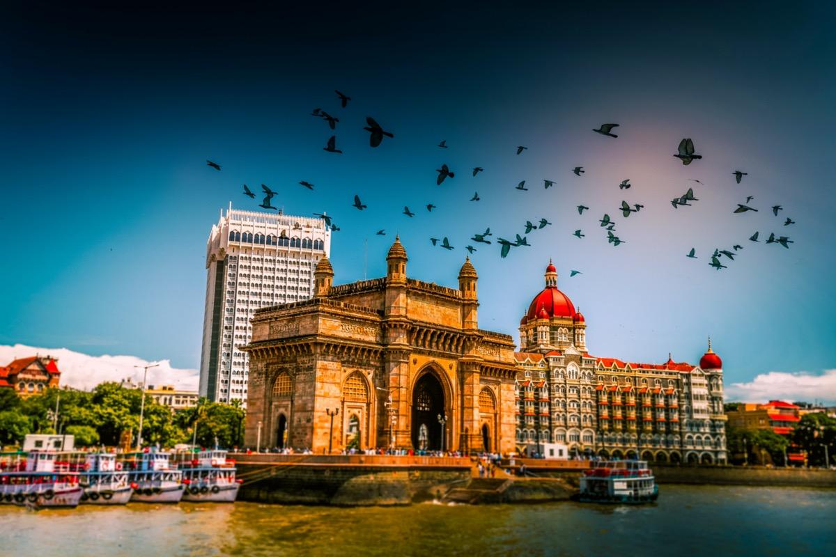 Gateway of India at morning, Mumbai, India.