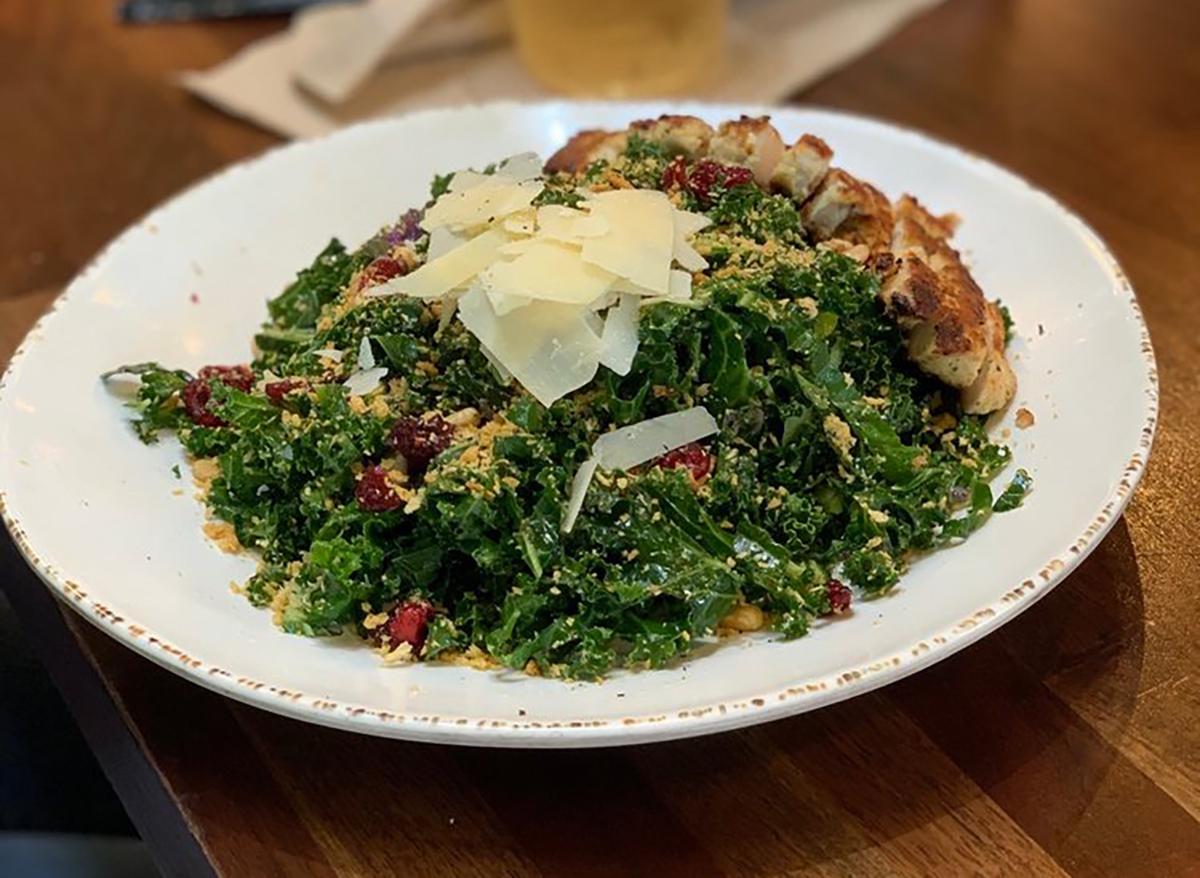 kale crunch salad with parmesan
