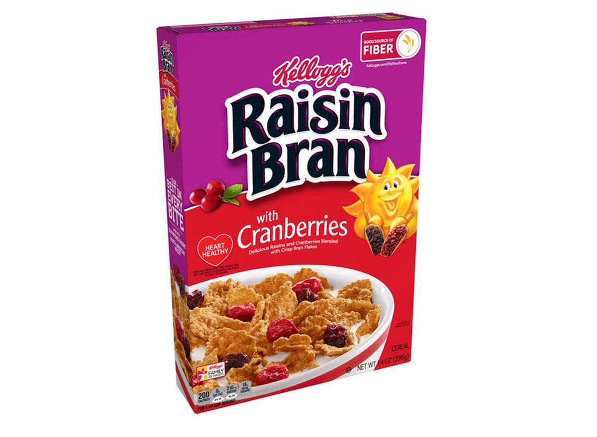 kelloggs raisin bran cranberries