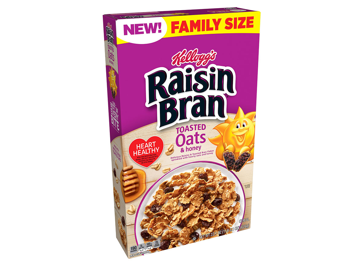 kelloggs raisin bran oats honey