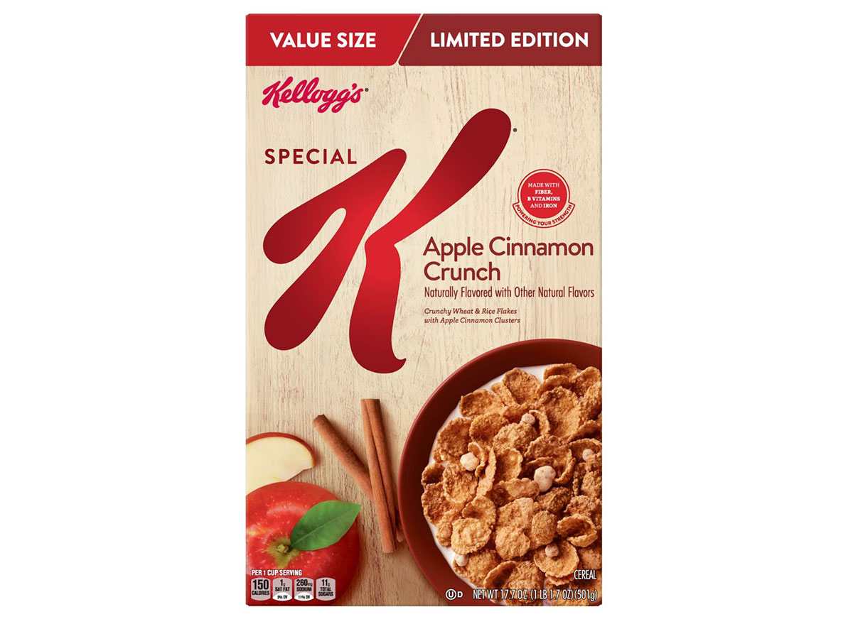 kelloggs special k apple cinnamon crunch
