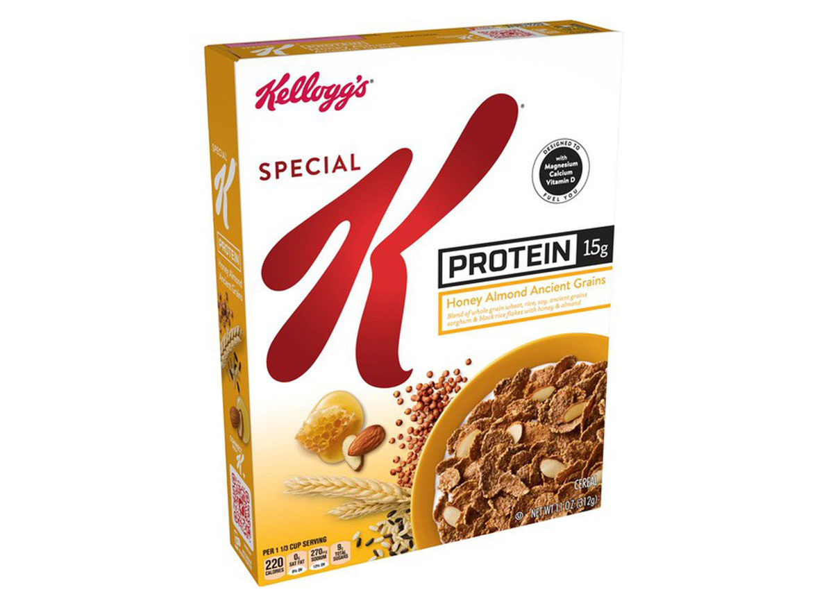 kelloggs special k protein honey almond grain