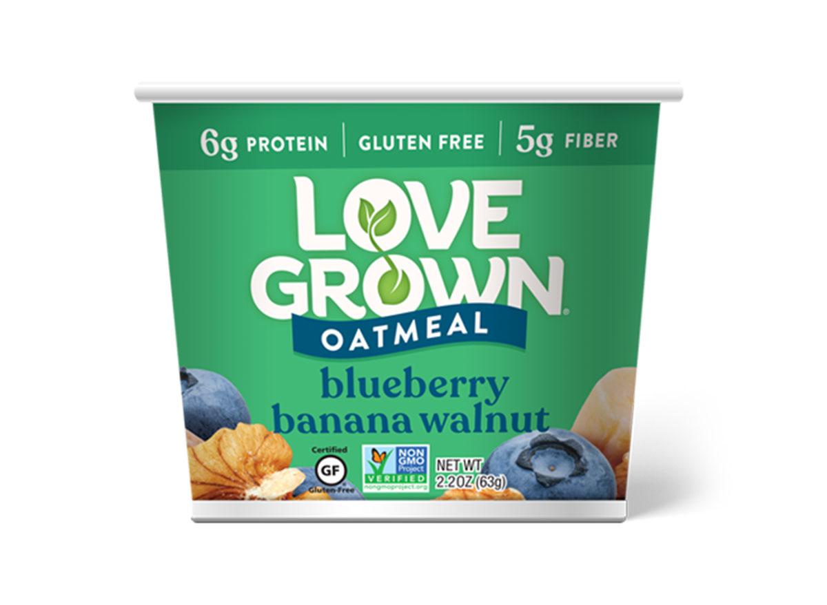 love grown blueberry banana walnut oatmeal
