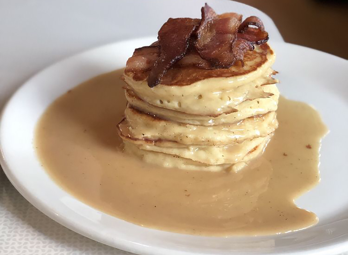 stack of maple pepper pancakes