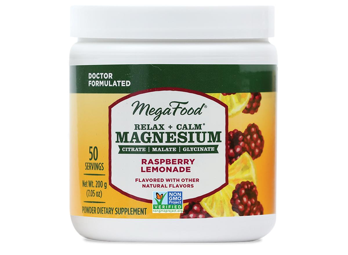 megafood relax calm magnesium raspberry lemonade