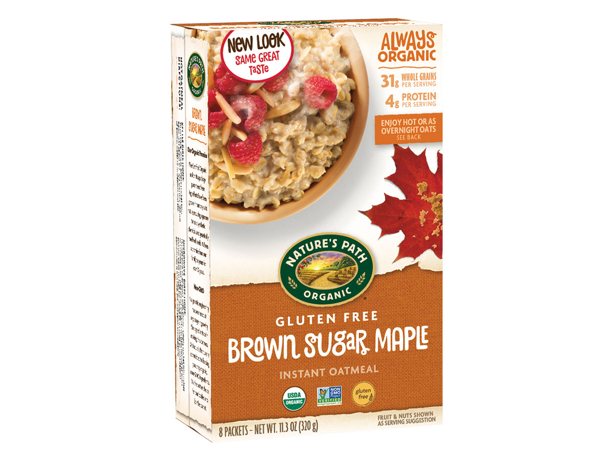 natures path gluten free brown sugar oatmeal
